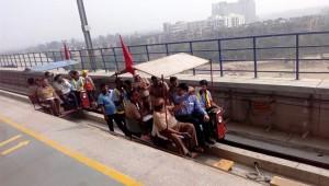 CMRS inspecting the Delhi Metro's Samaypur Badli line - Photo Copyright: Sandeep Tripathi