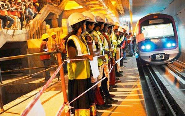 Trial runs flagged off on the underground section of Bangalore Metro's Purple line - Photo Copyright: Deccan Chronicle