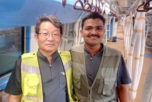 Inside the train - Photo Copyright: Murali Krishna