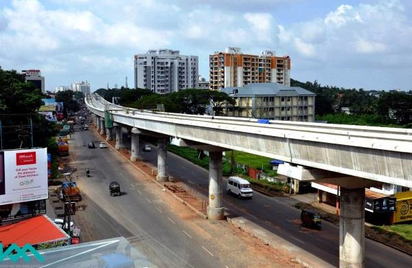 Track installation in progress on Kochi's Metro - Photo Copyright: