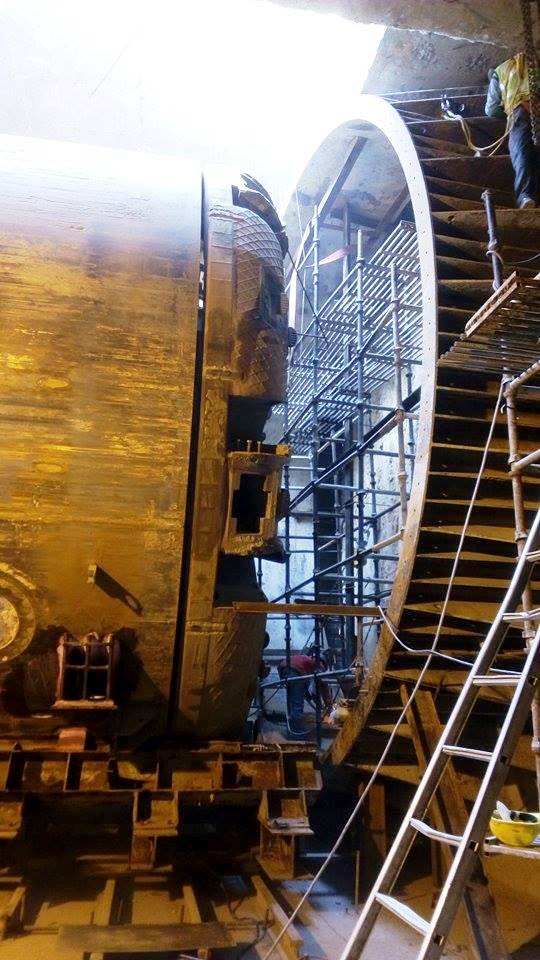 TBM#1 at the eye of the tunnel - Photo Copyright: Abhay Kumar