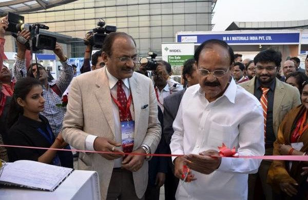 Venkaiah Naidu along with NMRC's MD Brijesh Dixit - Photo Copyright: NMRC
