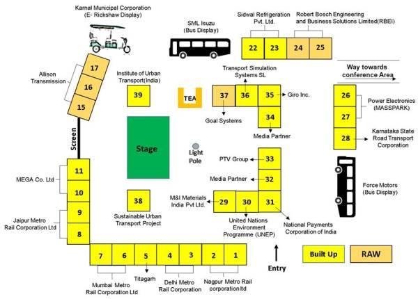 Layout of stalls within Manekshaw Center - Photo Copyright: UMI