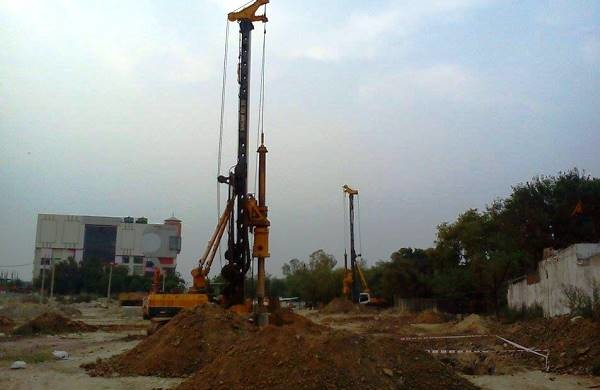 A concrete pour for casting a pile cap in progress - Photo Copyright: Yatendra Raghav