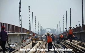 Trackword near Krishna Nagar station - Photo Copyright: DMRC