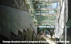 One of the entrances to the Delhi Gate station is almost complete - Photo Copyright: DMRC