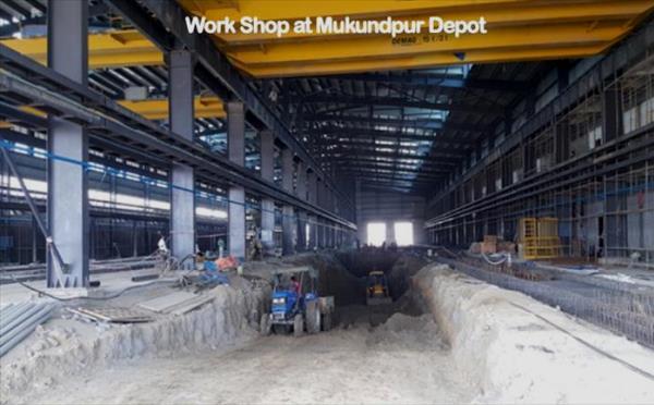 Mukundpur Depot - Photo Copyright: DMRC