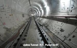Completed trackwork between RK Puram and IIT - Photo Copyright: DMRC