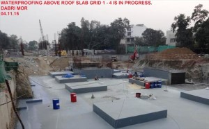 Waterproofing at - Photo Copyright: DMRC