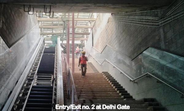 One of the entrances to the Delhi Gate station - Photo Copyright: DMRC