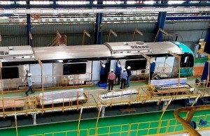 Kochi's first metro train - Photo Copyright: Sudheesh KM