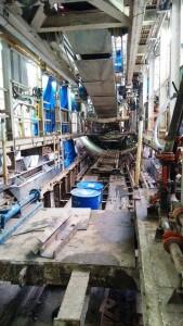 Inside the backup gantry of TBM Krishna - Photo Copyright: G Nani Gowda