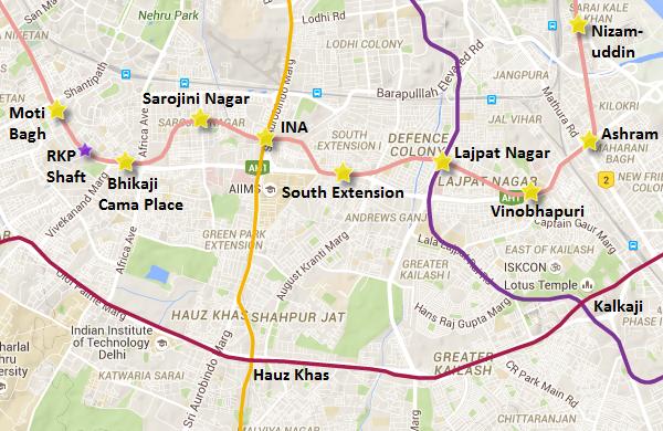 DelhiMetroPinkLineMap