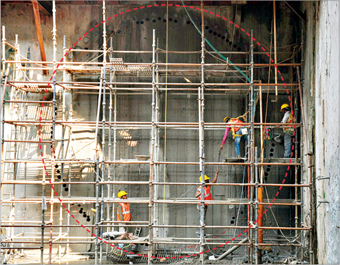 The eye of the tunnel - - Photo Copyright: Telegraph India