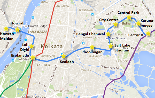 Kolkata's East-West metro line
