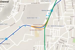 Chennai Metro's rake interchange ramps at Alandur
