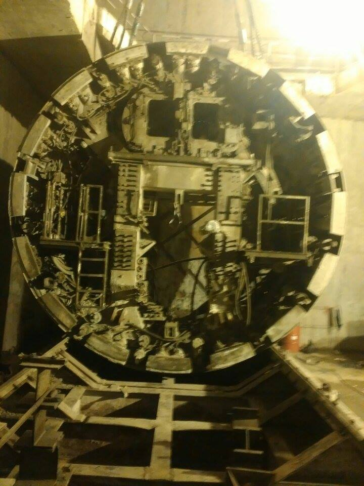 Midshield of the downline's TBM was lowered on January 19 -