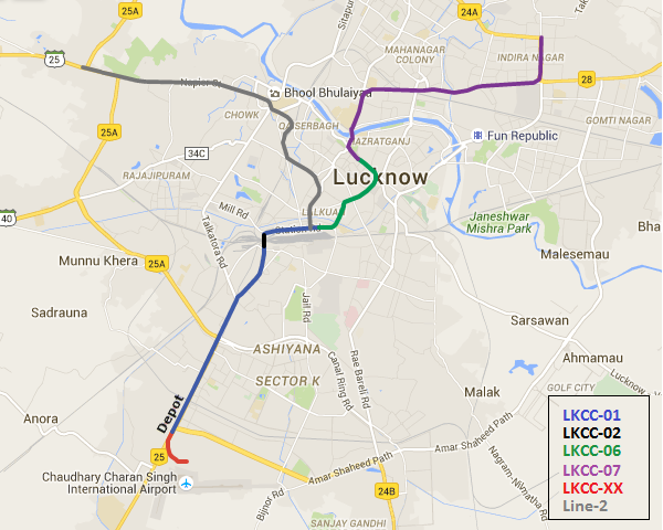 Packages of Lucknow Metro's north-south line