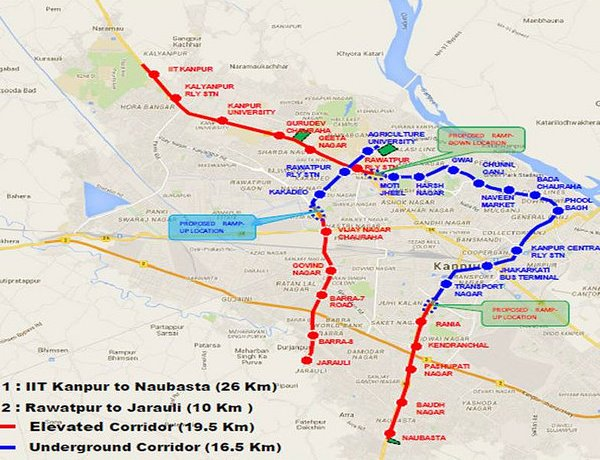 UP Cabinet Approves 32385 km Kanpur Metro The Metro Rail Guy
