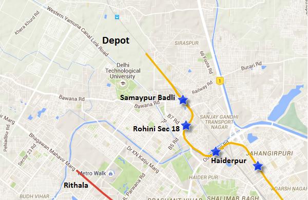 Location of Badli's Depot