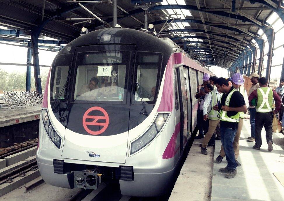 Delhi Metro Begins Trial Runs On Magenta Line Up To Okhla
