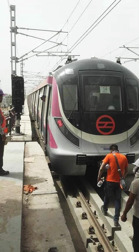 Delhi Metro Begins Trial Runs On Magenta Line Up To Okhla