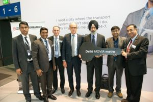 Commemorative key handed over to DMRC in Berlin - Photo Copyright: Bombardier