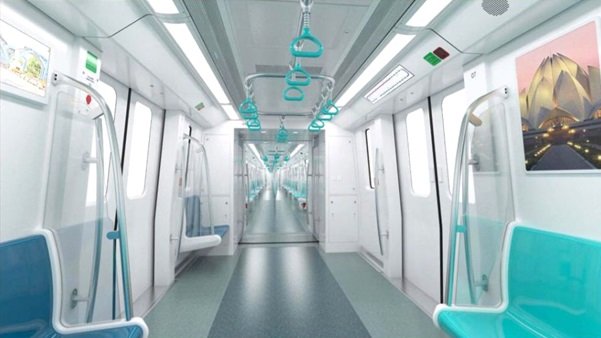 Metro Interior Design Preliminary Design Of Noida Metro's Crrc Trains Unveiled  The .