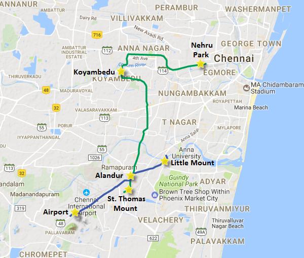 Chennai Metro S 8 Km Koyambedu Nehru Park Section Inaugurated The Metro Rail Guy