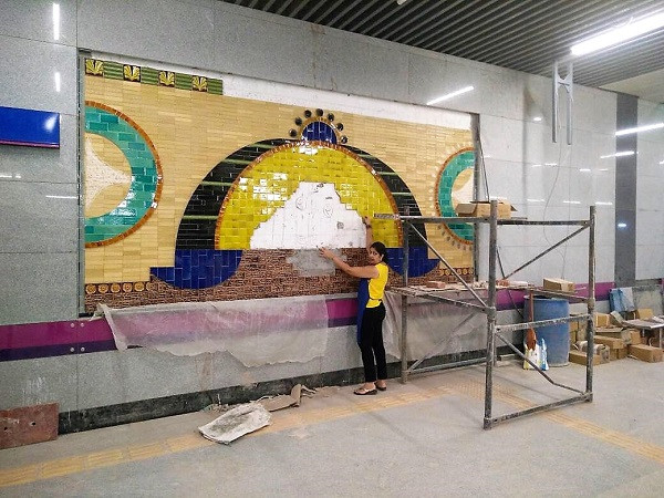 Pics Delhi Metro S Kalkaji Mandir Station July 2017