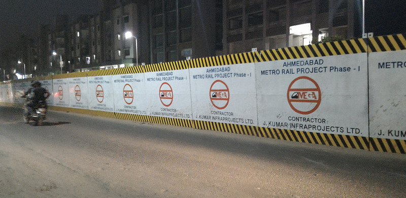 Barricades On-Site - photo:  Rushabh Gandhi, used under Creative Commons License (By 2.0)
