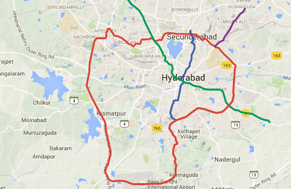 Subway Map 1 Train Route.Telangana Govt Reveals 83 Km Phase 2 Of Hyderabad Metro Project The