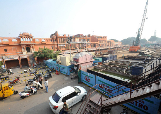 Jaipur Metro Tunneling Site - photo: The Sunday, used under Creative Commons License (By 2.0)