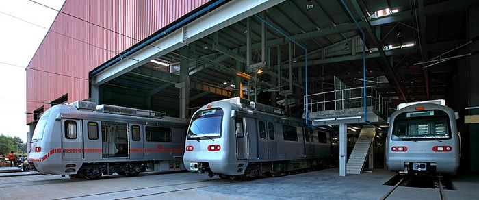 Mansarovar Depot - photo: Jaipur Metro, used under Creative Commons License (By 2.0)