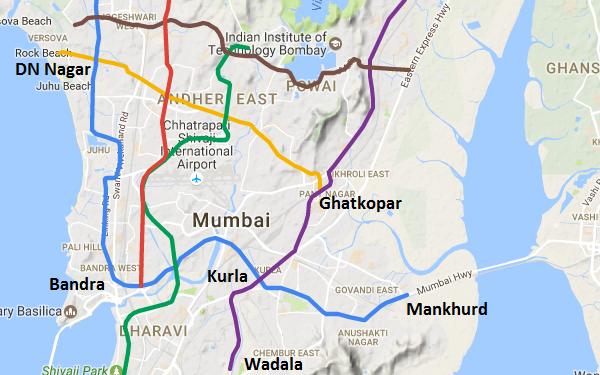 Mumbai Subway Map.Mmrda Invites Bids For Mumbai Metro S Line 2b And Line 4 The Metro