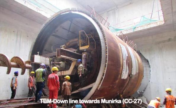 TBM at RK Puram station - Photo Copyright DMRC
