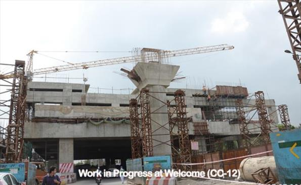 Welcome Station (interchange station with Red line) - Photo Copyright: DMRC