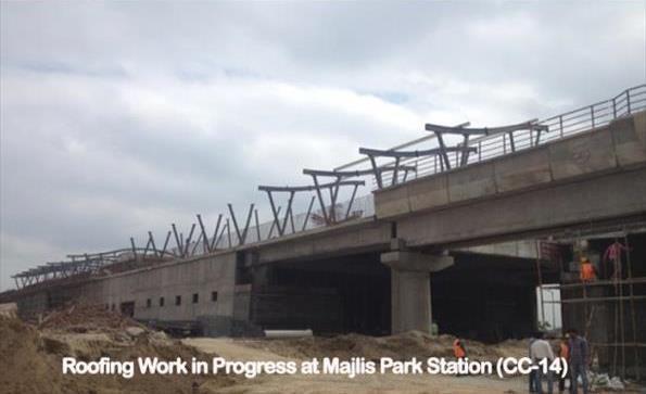 Majlis Park station in North Delhi - Photo Copyright: DMRC