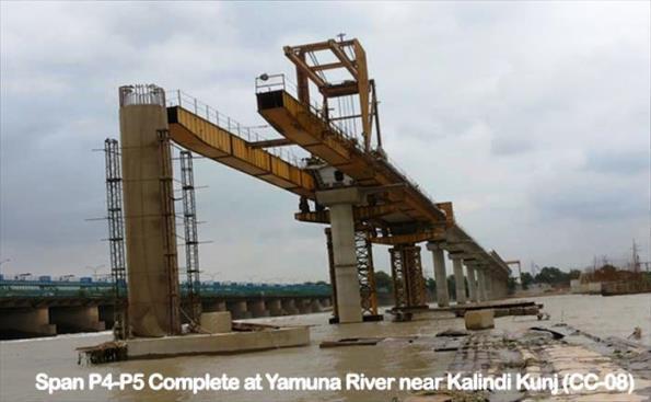 Bridge over Yamuna - Photo Copyright DMRC