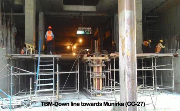 Munirka station - Photo Copyright DMRC