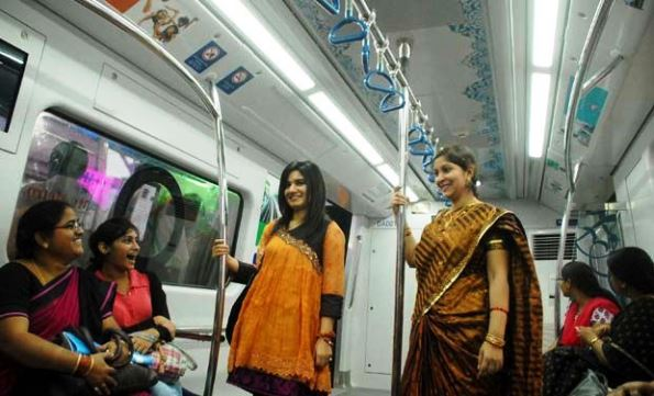 Visitors on a Train - Copyright PedIndia