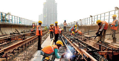 Kolkata Metro Track Work - photo: Telegraph, used under Creative Commons License (By 2.0)