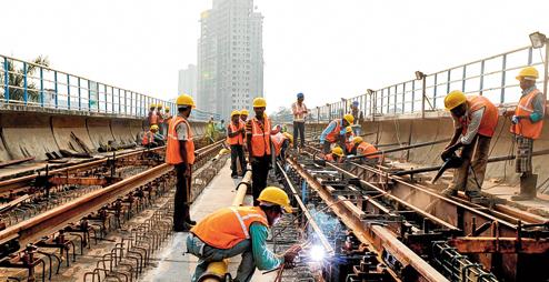 Kolkata Metro Track Work - photo: Telegraph, used under Creative Commons License (By 2.0)