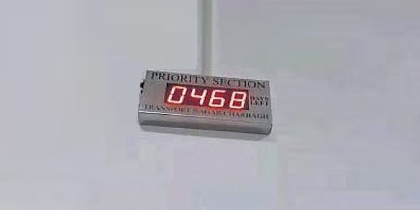 Countdown Timer at Lucknow Metro Rail Corp's Office - Image Copyright: HT
