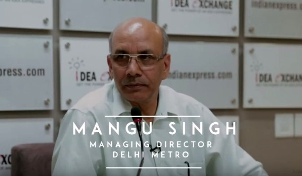 Mr. Mangu Singh, Managing Director of Delhi Metro Rail Corporation - Photo Copyright: Indian Express