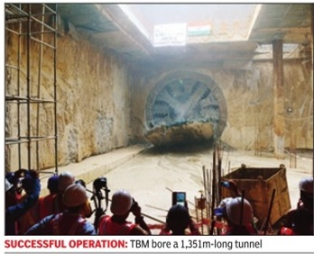 TBM Breakthrough - photo: Hindustan Times e-paper, used under Creative Commons License (By 2.0)