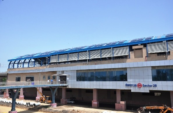 Sector 28 station - released by DMRC prior to inauguration