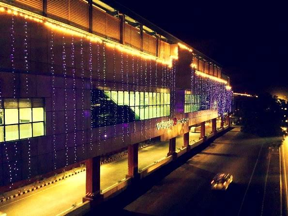 Escorts Mujesar station lit up to celebrate - Photo Copyright Fariabad Metro - FB
