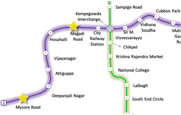 Reach 2 Route - Mysore Road - Magadi Road - Via Wikimedia