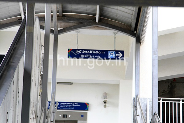 Heading up the stairs from the concourse, commuters will see this signage to direct them to the platform